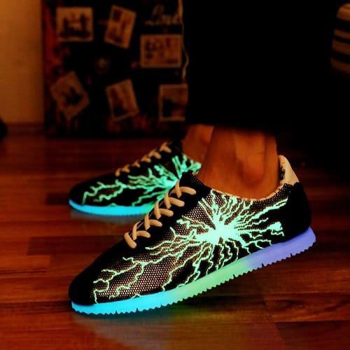 chaussures qui s'allument