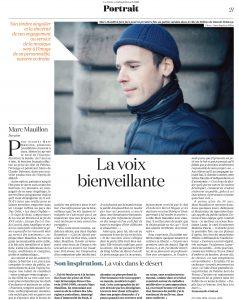 Portrait de Marc Mouillon dans La Croix
