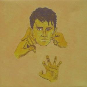 Tableau Portrait jaune numéro 9
