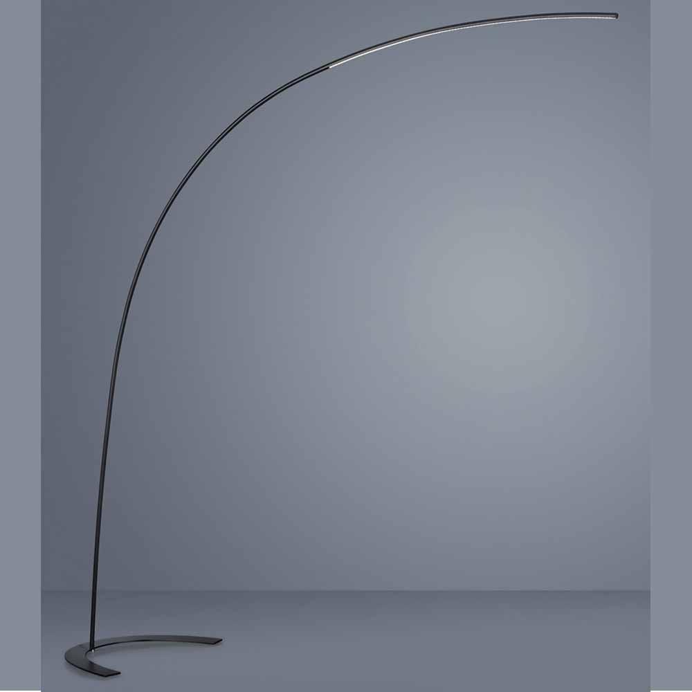 lampadaire led arc noir