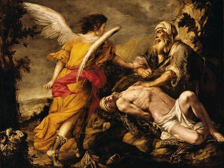 Image result for the sacrifice of abraham rembrandt