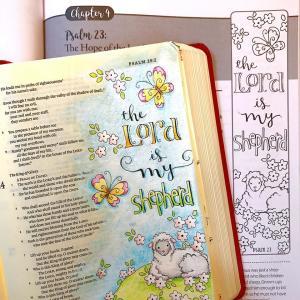 Scripture art Psalm 23 Karla Dornacher