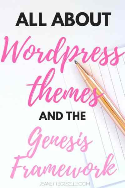 Wordpress Themes & the Genesis Framework