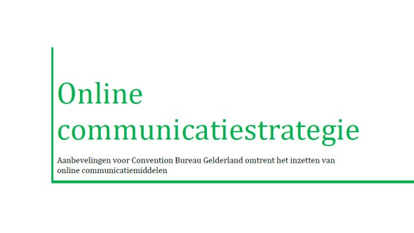 Afbeelding rapport Online communicatiestrategie