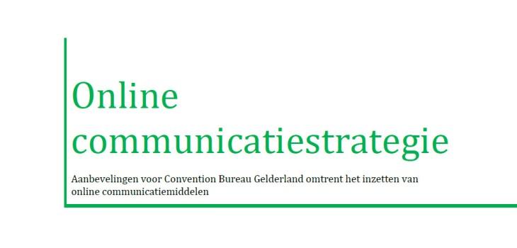 Afbeelding rapport Online communicatiestrategie