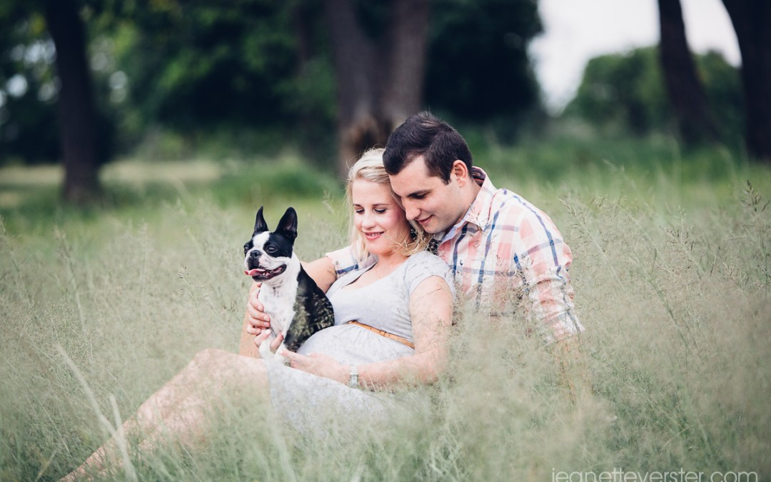 Robyn and Mark's maternity shoot with their dog