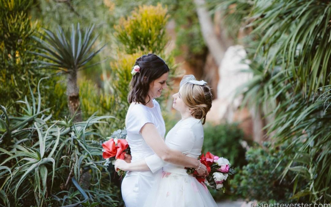 Frances and Sarah's wedding at Shepstone Gardens