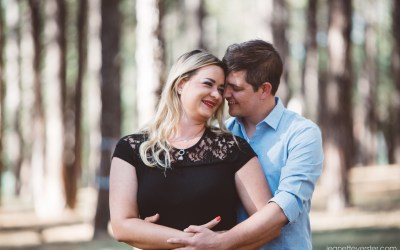 Jo-Anne and Michael's forest engagement shoot