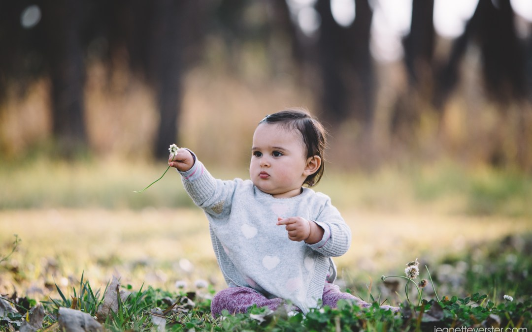 Sophie's photoshoot at 14 months old