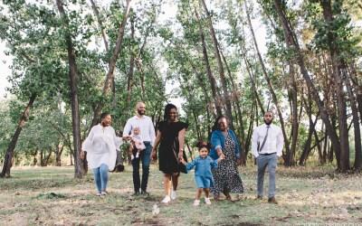 A family photoshoot for Joan's birthday