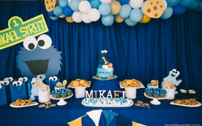 Mikael's Cookie Monster party