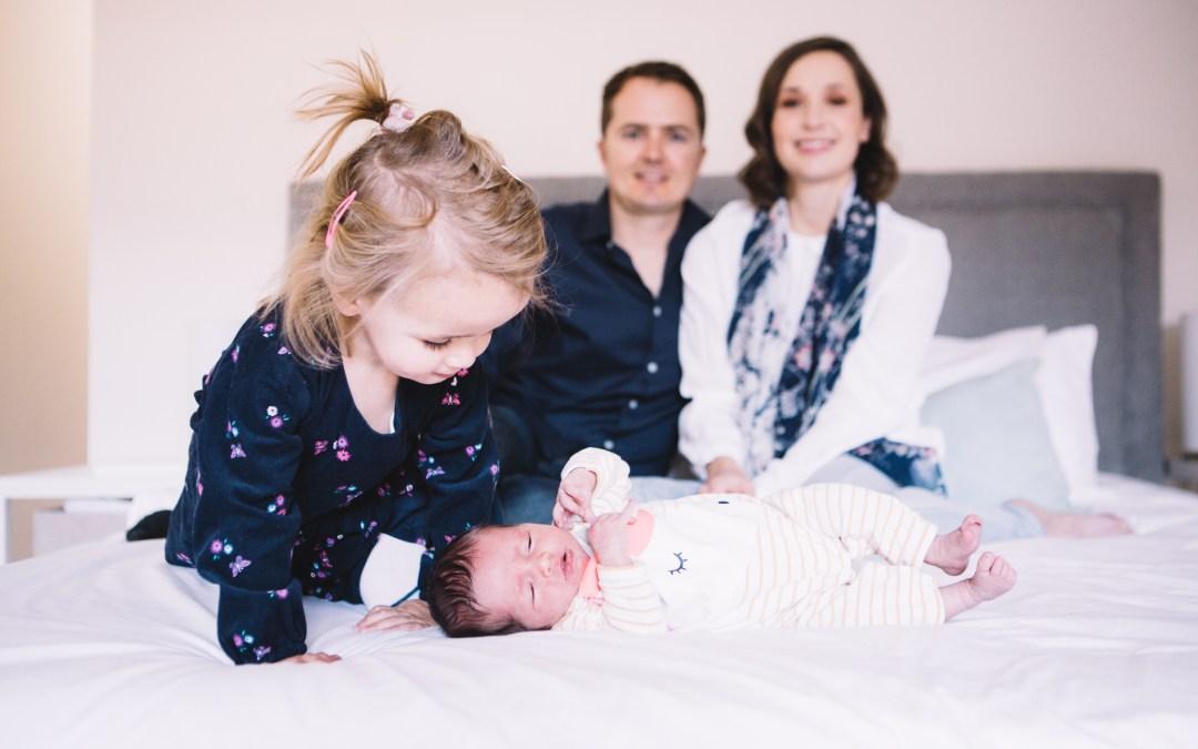 Anri's newborn photo shoot at home