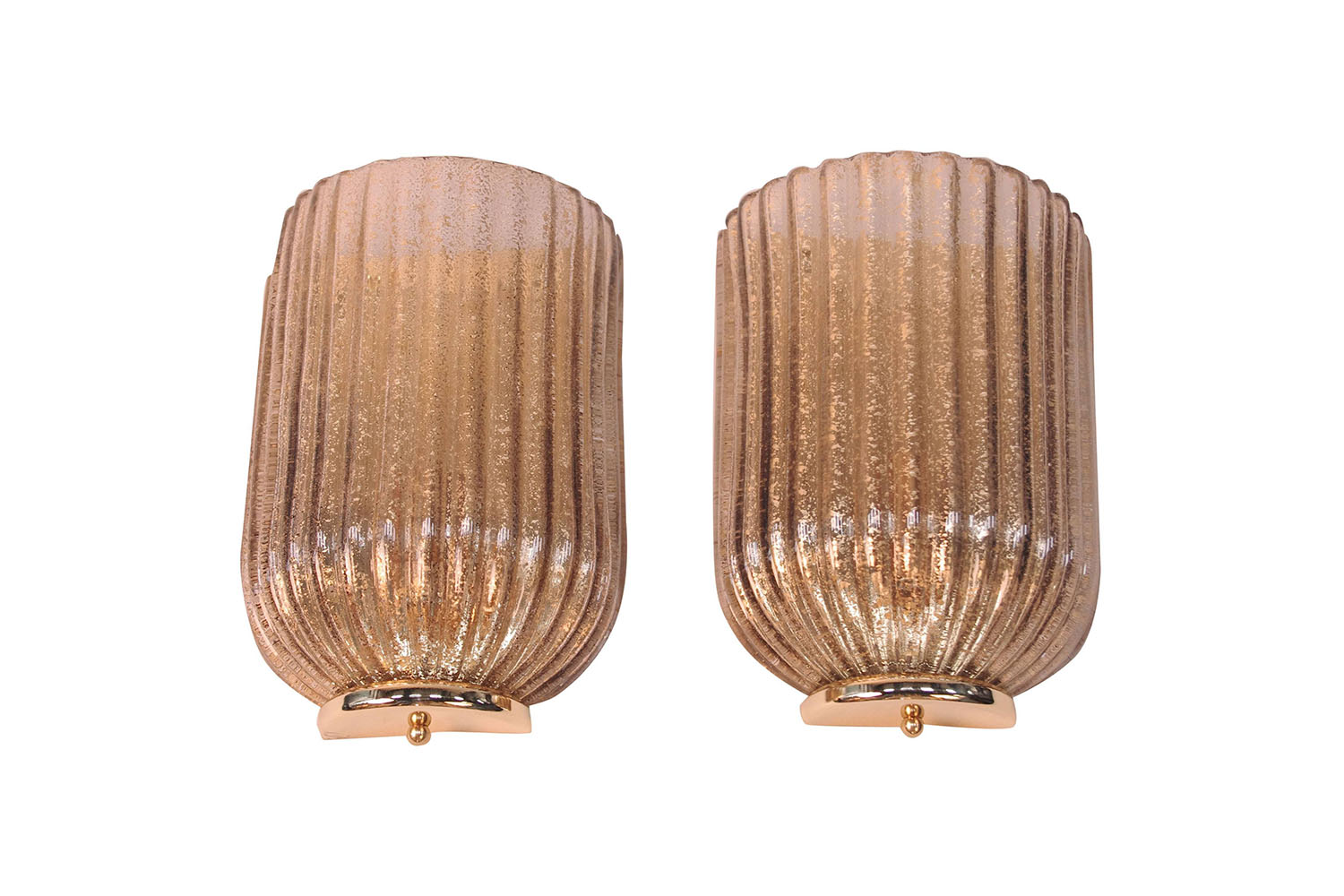 pair of art deco ribbed eglomise glass sconces 20th century