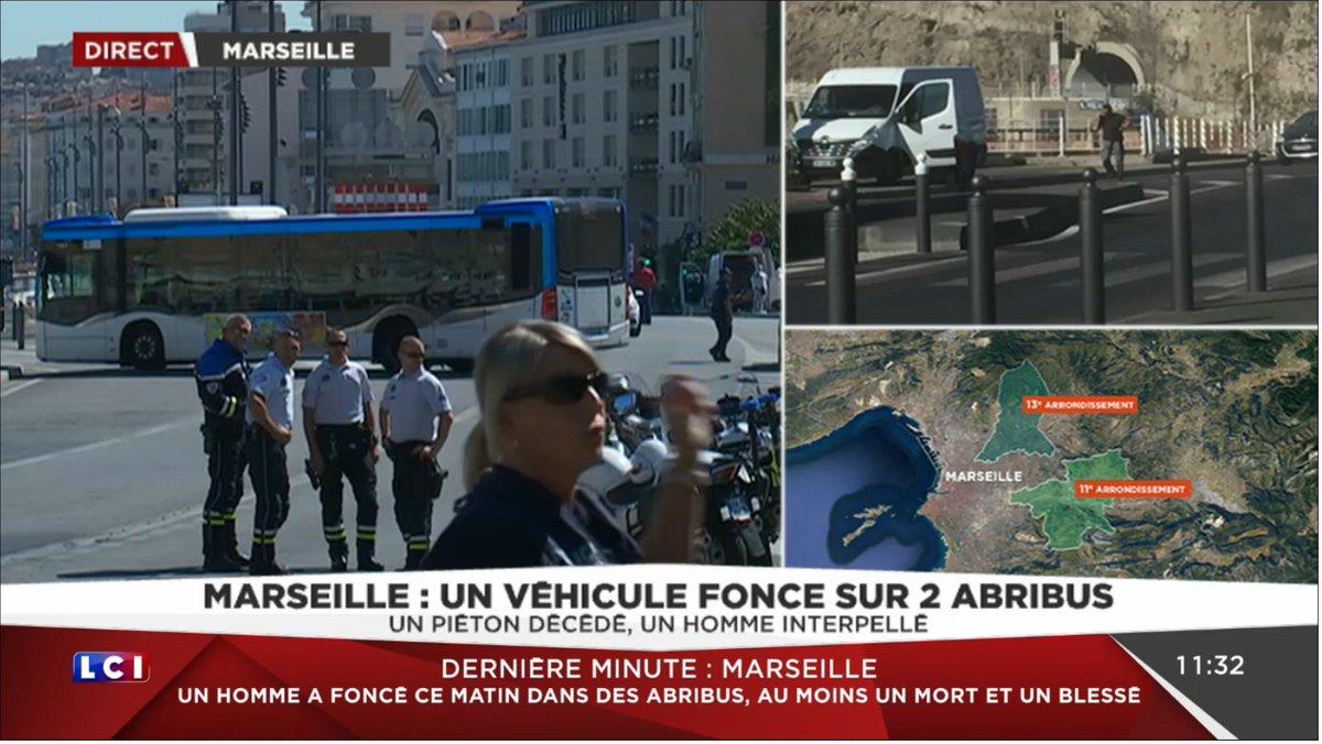 Marseille Une Voiture Fonce Sur Des Abris Bus Un Homme