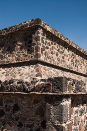 A built-up structure on top of one of the platforms along the Avenue of the Dead. The platform was probably topped by a temple when this site was inhabited.