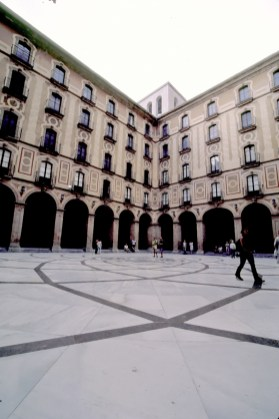 Courtyard of the Monestir de Montserrat