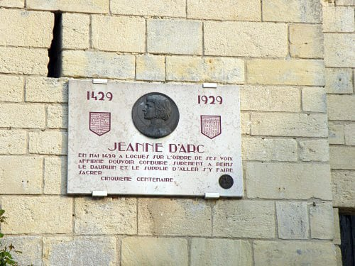 Plate Commemorating Jeanne d'Arc outside Castle of Loches