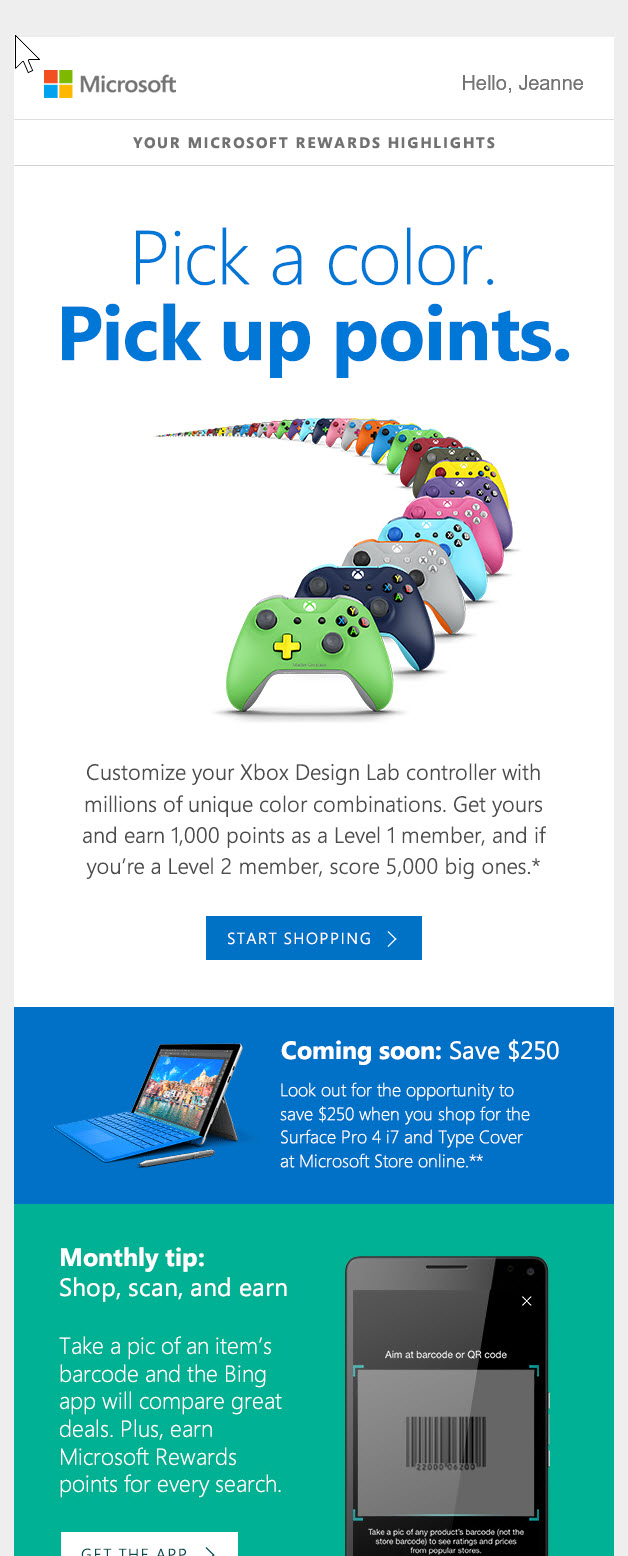 Scoring My Inbox: Microsoft Rewards Newsletter – Email Optimization Shop