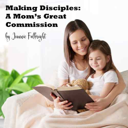 Mom reading Bible with daughter