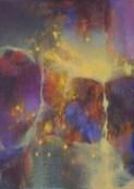 """Série Paysage """"la Nuit"""" (acrylique sur toile 33 x 24 cm) 2014"""