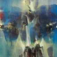 Les anges gardiens (acrylique sur toile 50 x 50 cm)