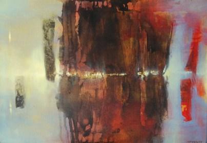Monolithe (acrylique sur toile 38 x 55 cm)