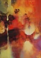 """Série Paysage """"le Midi"""" (acrylique sur toile 33 x 24 cm) 2014"""