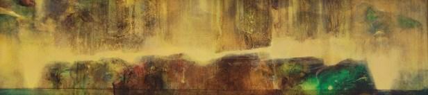 Traversée I (acrylique sur bois 16x65 cm)