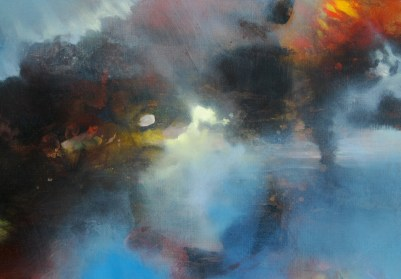 Visite II (acrylique sur toile 38 x 55 cm)