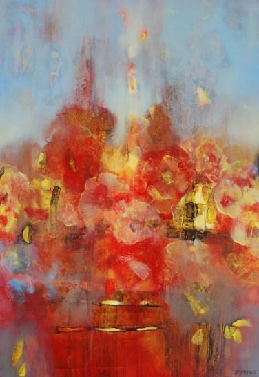 Récolte rouge (acrylique sur toile 92 x 65 cm)