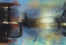 Le passeur (acrylique sur toile 38 x 55 cm) 2016
