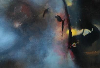 L'ange du soir (acrylique sur toile 38 x 55 cm) 2016