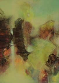 """Série Paysage """"le Matin"""" (acrylique sur toile 33x 24 cm) 2014"""