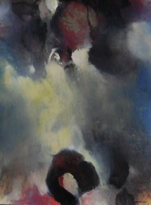 Germination I (crayon sur papier Ingres 42 x 29,7 cm)
