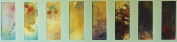 Etude pour 12 Chants de la Terre et du Ciel Après-midi (8 pastels)