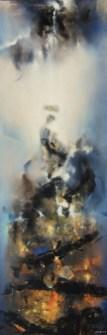 Long voyage (acrylique sur toile 50 x 150 cm) 2018