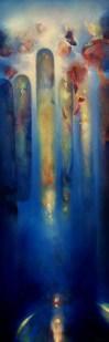 Vespéral (acrylique sur toile 150 x 50 cm) 2018