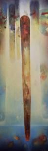 Zénithal (acrylique sur toile 150 x 50 cm) 2018