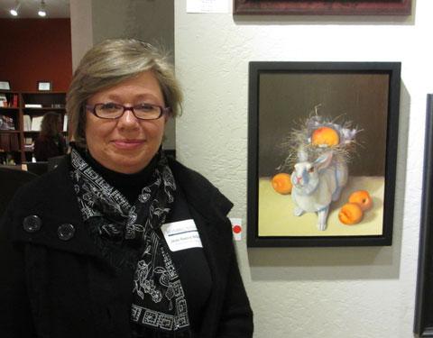 Jean Reece Wilkey - White Rabbit with Apricots
