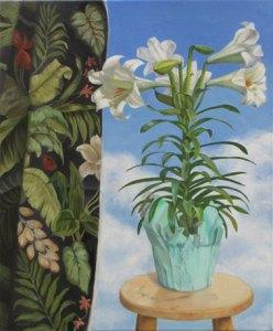 Lily, oil on canvas, 22x18 in, © Jean Reece Wilkey