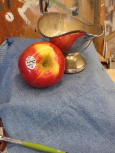 apple still life demo
