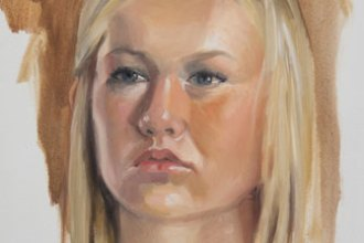portrait of Zoie, oil on panel, 14 x 11 in