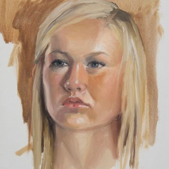 portrait of Zoie, oil on panel, 14 x 11 in