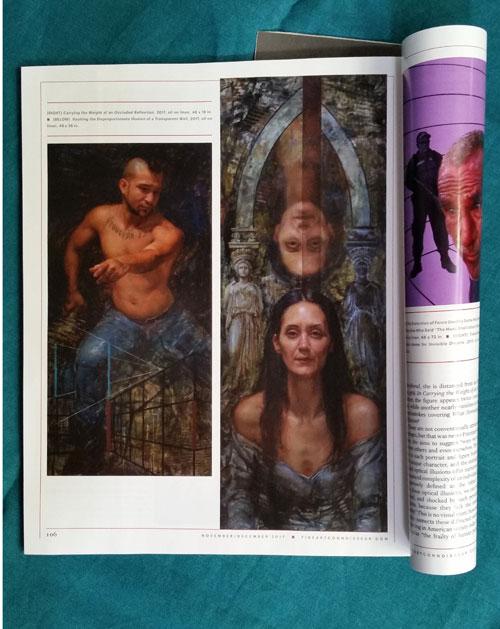 Rose Fratzen paintings in Fine Art Connoisseur magazine