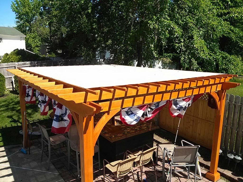 Custom Fabricated Pergola Covers on Canvas Sun Shade Pergola id=63693