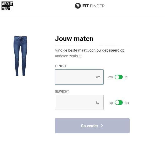 Maattabel jeans