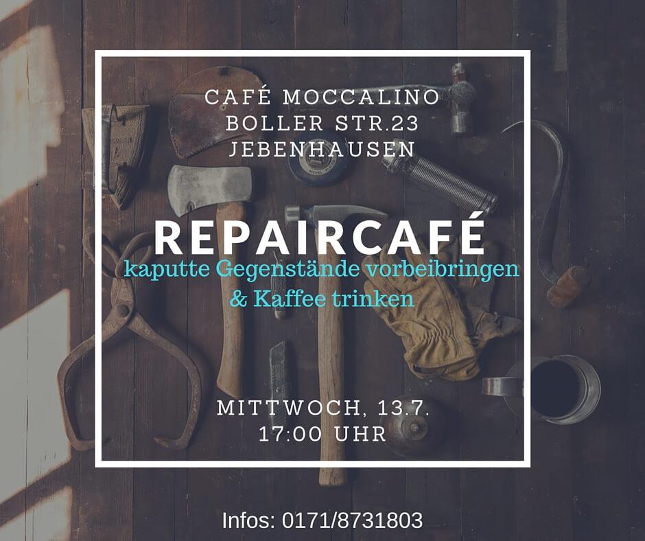 Einladung zum Repaircafé im Café Moccalino