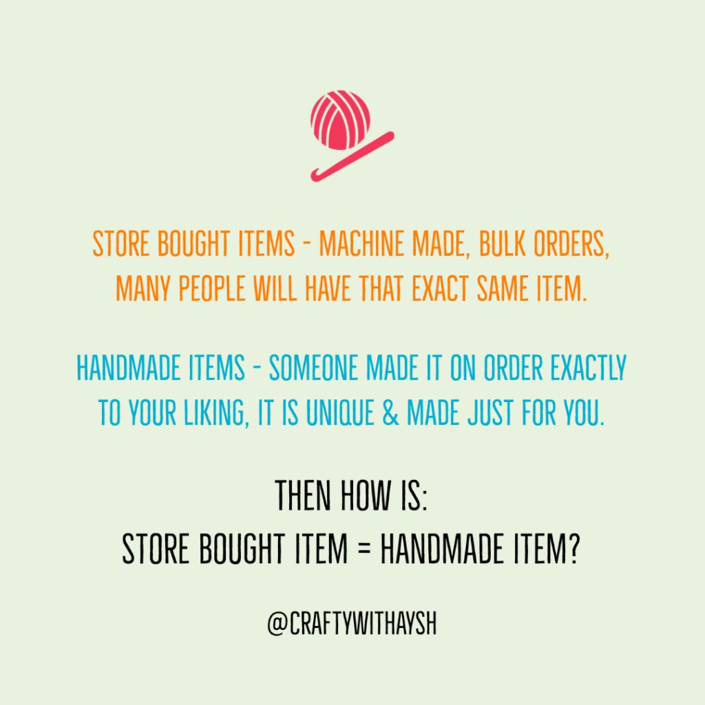 Store bought items vs handmade items JeddahMom