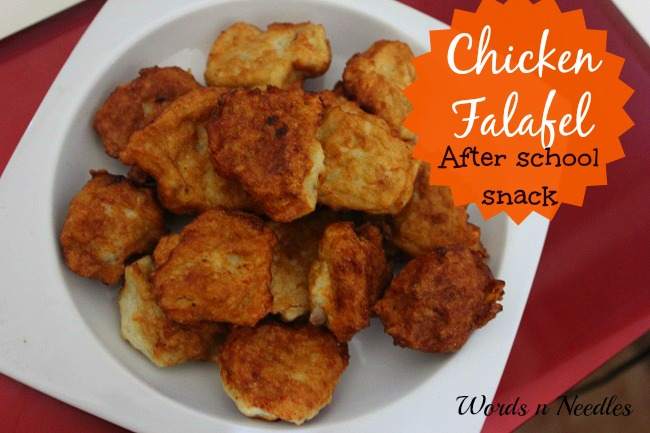 chicken falafel recipe wordsnneedles