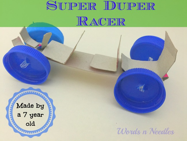 cardboard bottle caps toy car